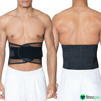 Lumbar Lower Back Support Weight Lifting Belt Brace Pain Relief Gym Training