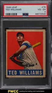1948 Leaf Ted Williams #76 PSA 4 VGEX