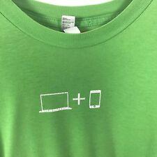 Mac iPod T-Shirt Men's L Green American Apparel Apple Buy A Mac Get an iPod