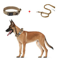 "1.5""  HEAVY DUTY Tactical Training Dog Collar w/Metal Buckle Medium Large Dogs"