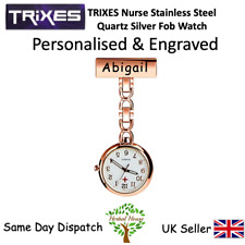 Personalised & Engraved Triexs Nurse Stainless Steel Quartz Rose Gold Fob Watch