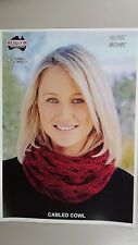 Heirloom Knitting Pattern #426 to Knit Cabled Cowl in Gypsie 12 Ply Yarn