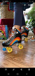 New Moxi Rainbow Rider Roller Skates Asphalt Black Size 8, Fits Women's Size 9