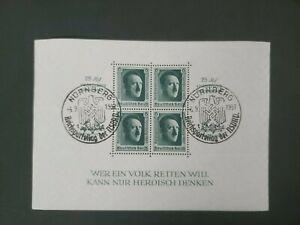 1937 3RD REICH PROPAGANDA SURCH SHEET VF USED GERAMANY DEUTSCHLAND B37.8 $0.99
