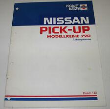 Produkt Bulletin Nissan Pick-up 720 technische Informationen Ausgabe März 1983!