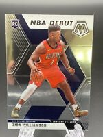 Zion Williamson HOT ROOKIE CARD PANINI MOSAIC NBA DEBUT 2019-20 RC #269
