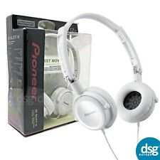 GENUINE PIONEER SE-MJ511-W FULL-SIZE HEADSET - WHITE IOS ANDROID APPLE SAMSUNG