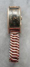 Vintage 1940s Westfield USA Curved Case Mens Wrist Watch Running