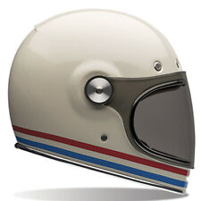 7070138 Bell Bullitt Stripes Pearl White Motorcycle Helmet FREE UK DELIVERY