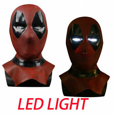 Deadpool 2 LED Mask Cosplay X-Men Full Face Latex Led Helmet Halloween Props New