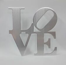 "9.5"" Small Aluminum Metal Love Sign Wall Decor Philly Love Park Sign"