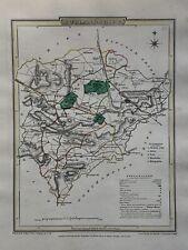 1808 Rutland Original Antique Hand Coloured County Map by Cole & Roper