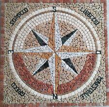 Rosoni rosone mosaico in marmo ,rosa dei venti cod 13A cm 100x100