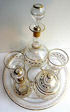Service à fleurs d'oranger verre peint Liserons à l'Or fin, style Napoléon III