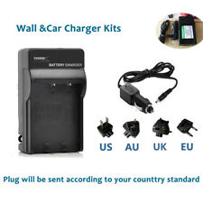 Doble Twin Lcd Cargador de batería con alta y baja modos Para Casio Np-40 Np40 Np 40