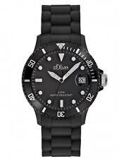 s.Oliver Unisex Uhr Armbanduhr Silikon Schwarz Plastik Datum SO-1934-PQ