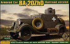Ace Models 1/72 Soviet BA-20ZhD Armored Car Railroad Version