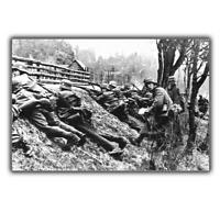 War Photo German troops are advancing on the Eastern front WW2 4x6 L