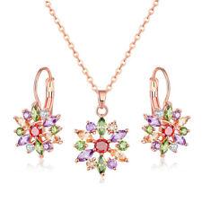 2 PC Lot Handmade Jewelry Morganite Topaz Gems Women Necklace Pendants Earrings