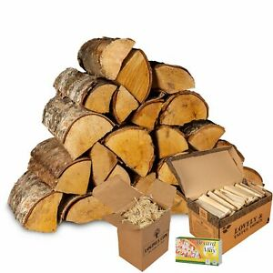 Birch Starter Kit. Kiln Dried Birch, Kindling, Firelighters and Matches.
