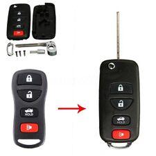 4 Button Remote Uncut Folding Flip Key Case Shell For Nissan 350Z Infiniti