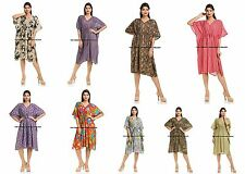 NEW Indian Kaftan Boho Hippy Plus Size Women Dress Beach Cover Up FREE SHIPPING