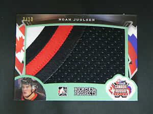 2015-16 Leaf ITG Heroes & Prospects PATCH Noah Juulsen Canada vs. Russia / 10