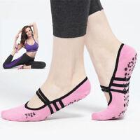 Black Pink Women Anti Slip Yoga Socks Ladies Sport Pilates Ballet Dance Socks