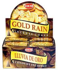 Hem Gold Rain Incense Cones, Bulk Lot 3 Pack of 10 Cones = 30 Total Always Fresh