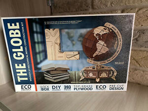 """"""" THE GLOBE""""  Model  Mechanical Wooden 3D Puzzle Self Assembly DIY Kit"""