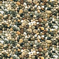 Landscape Medley Brown River Rock Pebbles Smooth Stone Cotton Fabric Fat Quarter