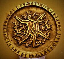 Orig. Bronze Guss Tanz Medaille Deutsch. Senioren Meisterschaft 1966