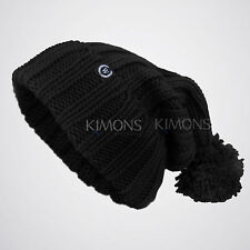 Monster Knit Baggy Beanie Pom Pom Oversize Winter Hat Ski Slouchy Cap Skull