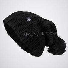 Monster Knit Baggy Beanie Pom Pom Oversize Winter Hat Ski Slouchy Cap Skull