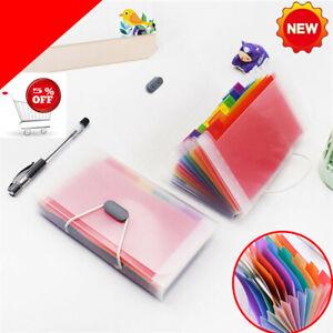 1pc A6 File Bag Rainbow Color Mini Receipt Bill Bag Organizer Folder Holder UK