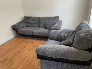 GREAT CONDITION SOFA SET LARGE DOUBLE WITH MATCHING ARMCHAIR