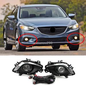 Fit For Mazda 6 2014-2015 Halogen Front Bumper Front Fog Light Assembly Kit