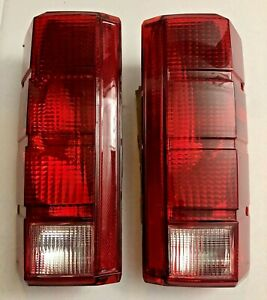 Tail Light Set For 1980-1986 Ford F-150 Clear & Red Lens Pair New