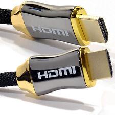 1m Intrecciato Ultra HD Cavo HDMI v2.0 High Speed + Ethernet HDTV 2160p 4k 3d GOLD