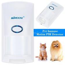 433MHZ Wireless 25KG Pet Immune Motion PIR Sensor Infrared Detector White R3S9
