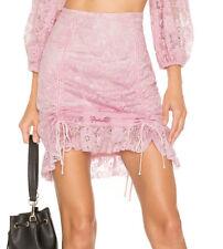 For Love & Lemons Pink Lafayette Mini Skirt XS