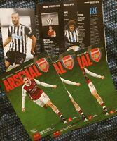 Arsenal -Scored 3:0 vs Newcastle PREMIER LEAGUE PROGRAMME 18/1/2021 BUY NOW