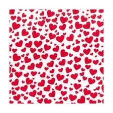 Polycotton Fabric Hearts Love Valentines Day Heart