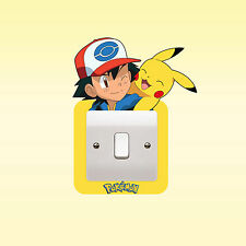 Pokemon Pikachu Funny Novelty Light Switch Surround Sticker Cover Vinyl Skin