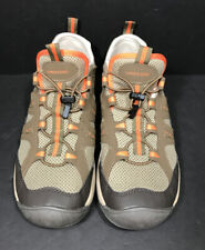 Lands End Brown Mesh Water Sport Drawstring Sneakers Hiking Trail Mens 10.5 D