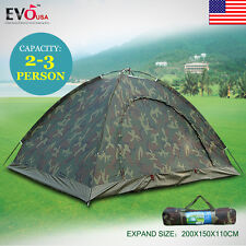 Camo Outdoor Camping Waterproof 2-3 Person Folding Tent Camouflage Hiking 2017 A
