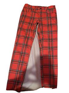 red plaid pants Womens