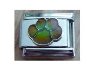 9mm  Italian Charm   Mood Paw Dog Cat  Changes Colour Fits Classic Size Bracelet