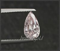 Diamant Tropfen mit GIA Zertifikat 0.33 ct, in seltener Farbe rosa, unbehandelt