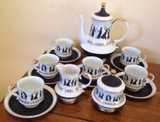 "VINTAGE Japan ""SEYEI"" COFFEE SET,black &gold ,Victoriana"